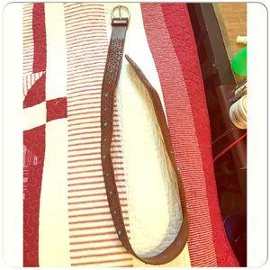 Aeropostale Genuine Leather Turquoise Studded Belt